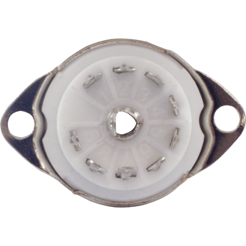 Socket - 9 Pin, Ceramic with Center Shield, Top Mount image 3