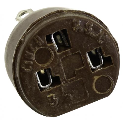 Transistor Socket - Cinch, 3 Pin, Phenolic, NOS image 2