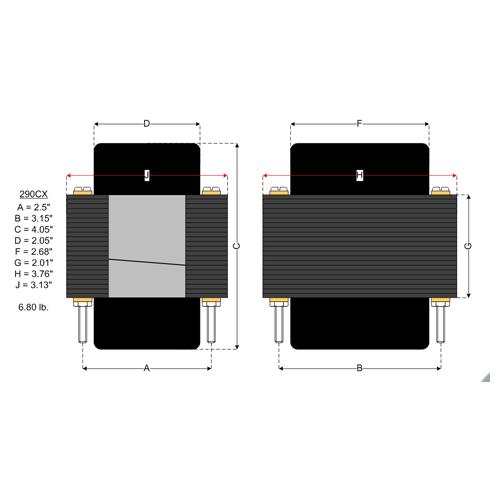 Transformer - Hammond, 120V for Vibrolux, Vibrolux Reverb, etc. image 2