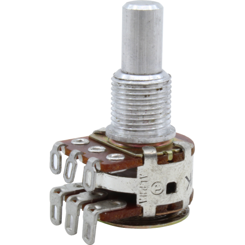 Potentiometer - Fender®, 250kΩ, Pan, MN Taper, Solid Shaft image 1