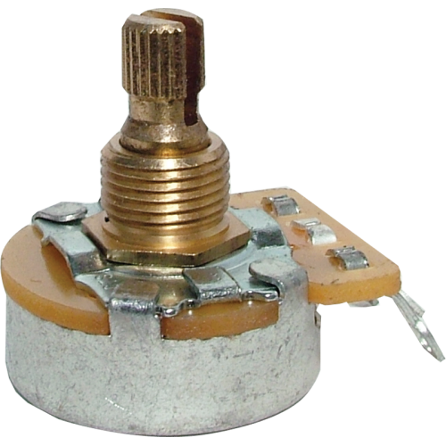 Potentiometer - Fender®, 250kΩ, Knurled Shaft, No Load image 1