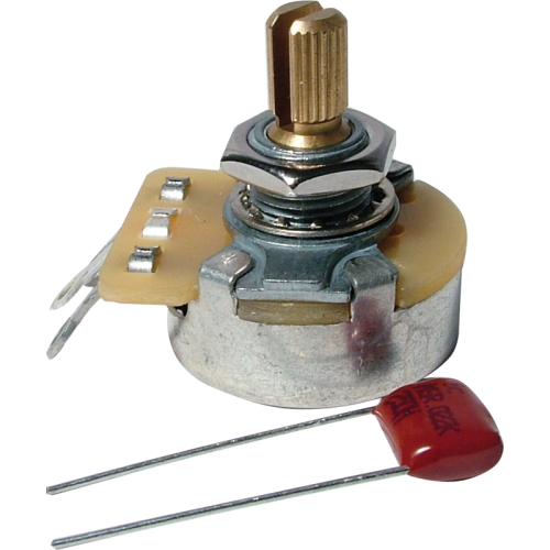 Potentiometer - Fender®, 250kΩ, Audio, Knurled Shaft image 1