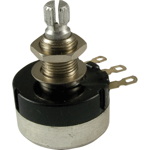 Potentiometer - Audio, Knurled Shaft, Sealed, 24mm image 1