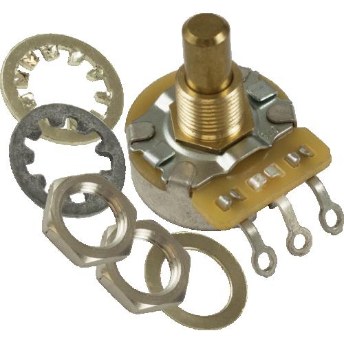 Potentiometer - Fender®, 250K, J Taper, Solid Shaft, Control image 1