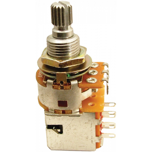 Potentiometer, guitar, push-pull short shaft, Original Gibson® 500K image 1
