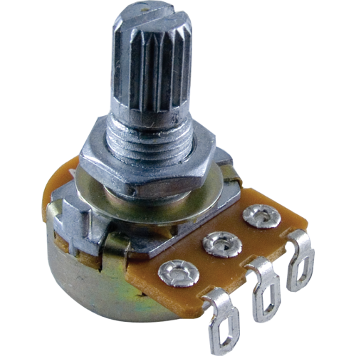 "Potentiometer - 1M Audio, 16mm, ¼"" Knurled, Push-On image 1"