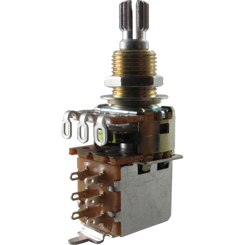 Potentiometer - Bourns, Audio, Knurled Shaft, Push-Pull, Mini image 1