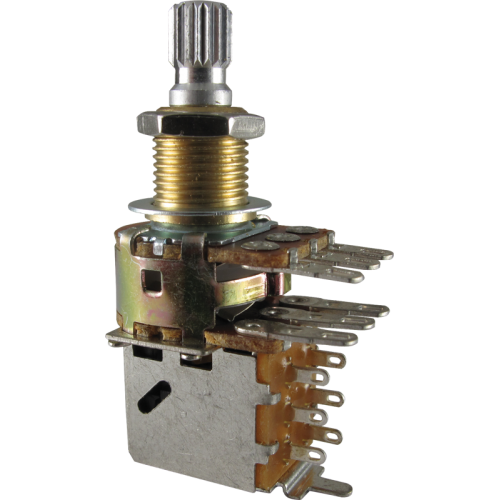 Potentiometer - Bourns, Audio, Knurled, Dual Mini, Push-Pull, 500K image 1