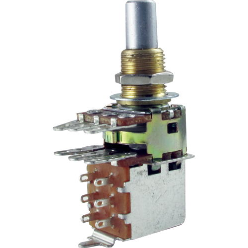 Potentiometer - Bourns, Audio, Solid Shaft, Dual Mini, Push-Pull image 1