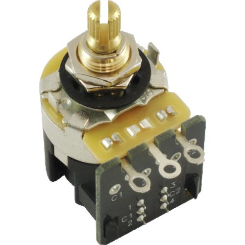 "Potentiometer - CTS, Audio, Knurled Shaft, .375"" Bushing, DPDT  image 1"