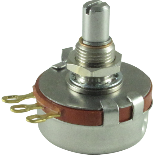 Potentiometer - Precision Electronics, 50K Linear, 24mm, Slotted Shaft image 1