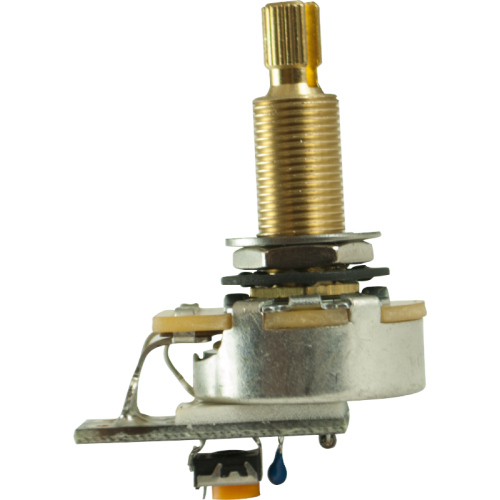 "Potentiometer - PMT, Audio, Variable Treble Bleed, 3/4"" image 1"