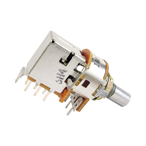 Potentiometer - Alpha, 1M, Audio, 7mm Bushing, DPDT Switch image 1