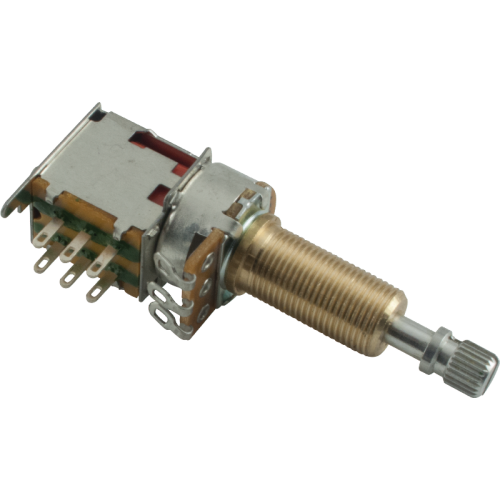 Potentiometer - 500K, Audio, Knurled Long, DPDT, Push-Push image 1