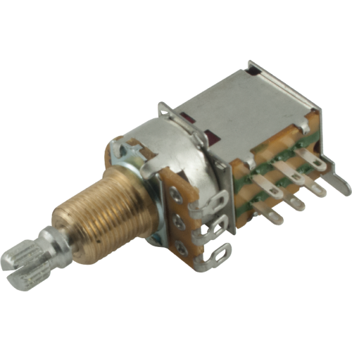 Potentiometer - 500kΩ, Audio, Knurled Shaft, DPDT, Push-Push image 1