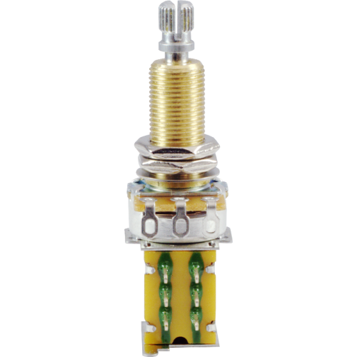 Potentiometer - 500kΩ, Linear, Knurled Long, DPDT, Push-Push image 2