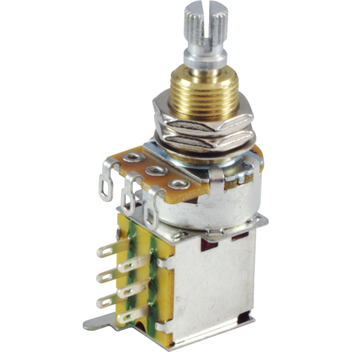 Potentiometer - 500kΩ, Linear, Knurled Shaft, DPDT, Push-Push image 1
