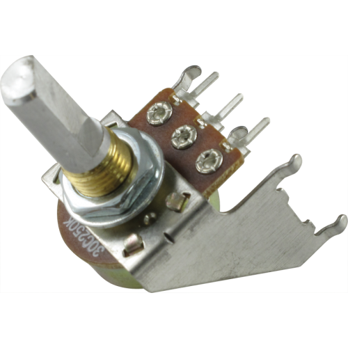 Potentiometer - Reverse Audio, D Shaft, 16mm, Snap-In, Bracket image 1