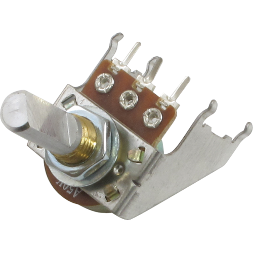 Potentiometer - 16mm, Snap-In, with Bracket, 50KA, D Shaft image 1