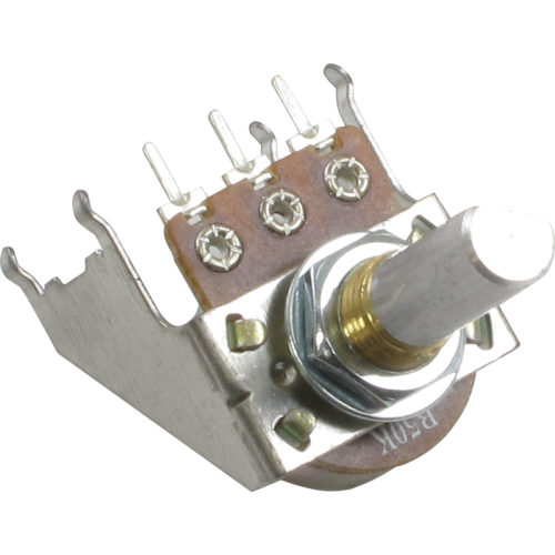 Potentiometer - Linear, D Shaft, 16mm, Snap-In, Bracket image 1