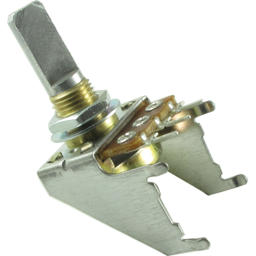 Potentiometer - 50kΩ, Linear, D Shaft, 16mm, Snap-In, Detent image 1