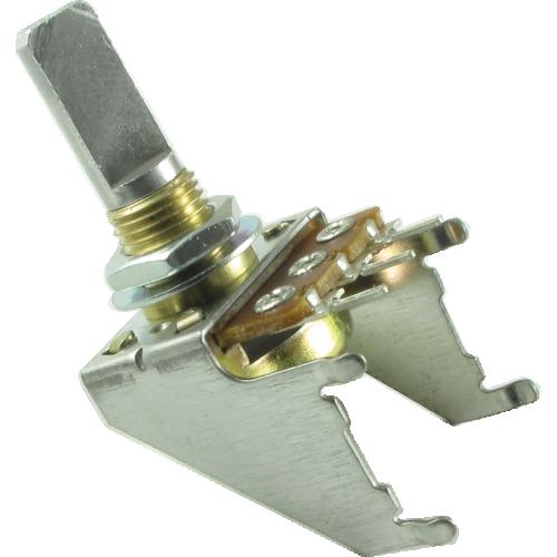 Potentiometer - 50K, Linear, D Shaft, 16mm, Snap-In, Detent image 1