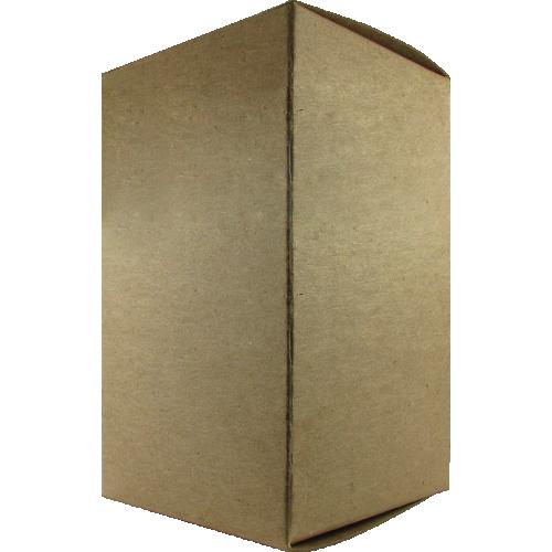 "Tube Box - Brown, 3"" x 3"" x 5"" image 1"