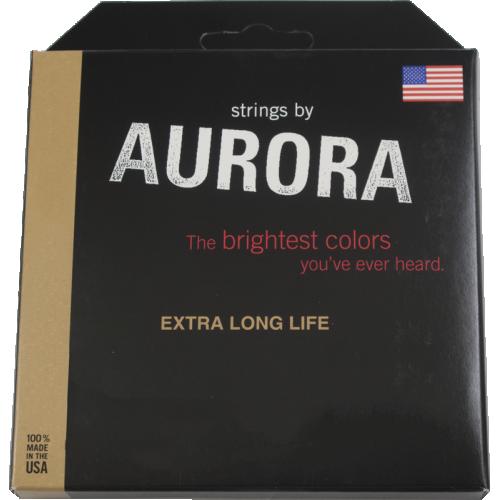 Bass Guitar Strings - Aurora, Pink, Medium image 2