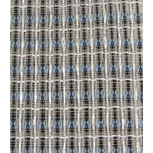 "Grill Cloth - Blue/White/Silver, 59"" Wide image 1"