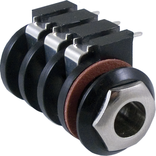 Jack - Stereo Input with Ferrule, 6 PC Mount Terminals image 1