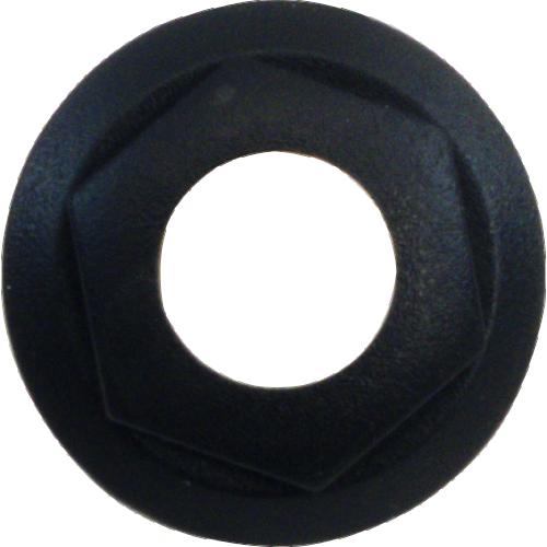 Bezel / Nut - Cliff, For S4, Combined Nut / Bezel, Black image 1