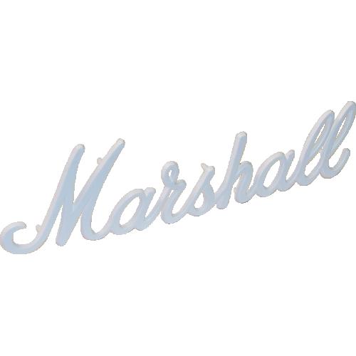 "Logo, Original Marshall 11"" White Script image 1"