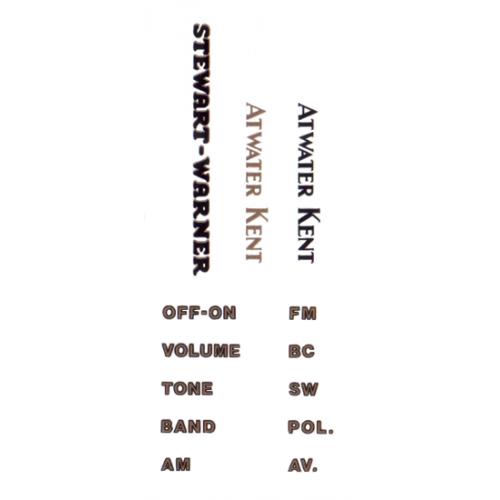 Decal - Atwater Kent / Stewart-Warner image 1