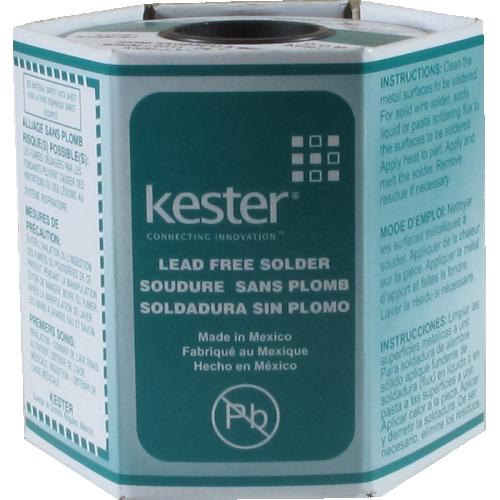 "Solder - Kester 48, .031"", Flux 66, Lead-free 1 lb Spool image 1"
