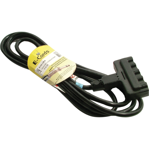 Cord - Extension, 14 AWG, 3-Outlet, 12', ProCo E-Cord image 1
