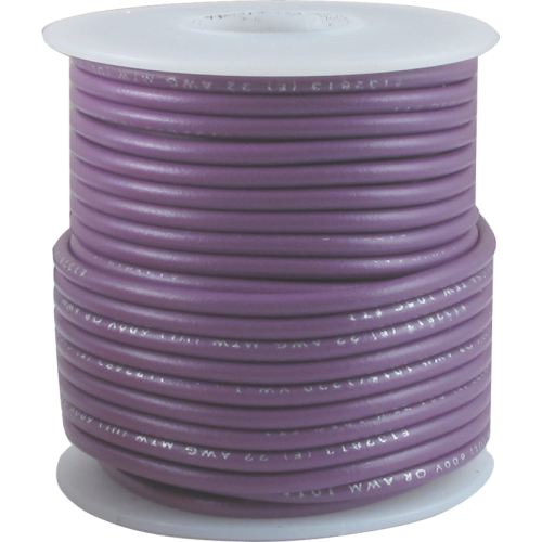 Wire - Hook-Up, 22 AWG, 50' roll, Purple image 1