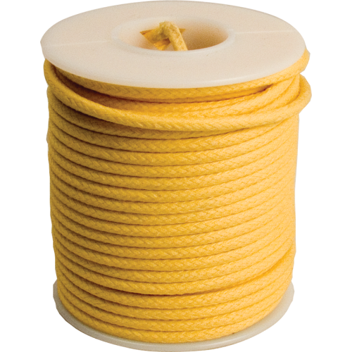 Wire - 20 AWG, Solid Core, Lacquered Cloth Cover, Yellow, 600V image 1