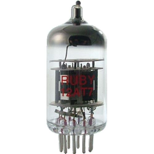 Vacuum Tube - 12AT7, Ruby image 1