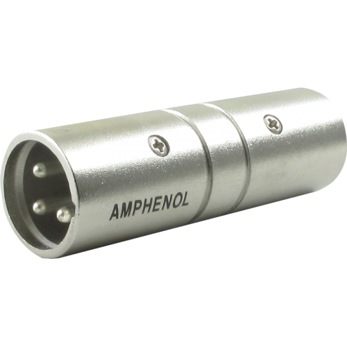 XLR Adapter - Amphenol, 3-Pole Male To Male image 1