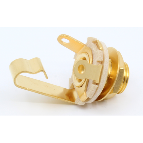 "1/4"" Jack - Switchcraft, Mono, Open Circuit, Gold Plated image 2"