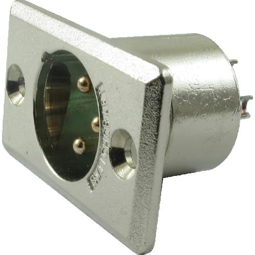 Jack - Switchcraft, premium XLR, Male 3-Pin, rectangular panel-mount image 1
