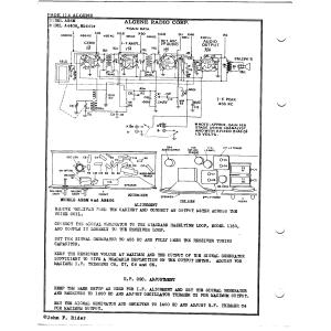 Algene Radio Corp. AR406