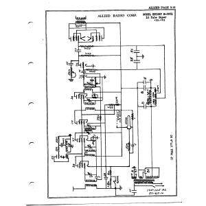 Allied Radio Corp. 10 Tube Super