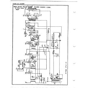 Allied Radio Corp. 12 Tube Super
