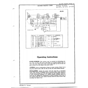 Allied Radio Corp. 4F-516