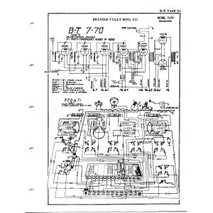 Bremer-Tully Mfg. Co. 7-70