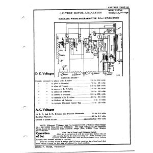 Calvert Motor Associates A-50-A