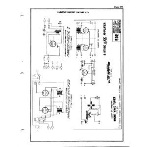Canadian Marconi Co. Ltd. Marconiphone I