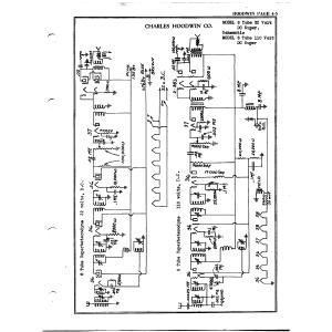 Charles Hoodwin Co. 6 Tube 110 Volt DC Super