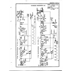 Charles Hoodwin Co. 6 Tube 32 Volt DC Super